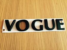 MATT BLACK VOGUE LETTERING FOR LAND RANGE ROVER SPORT L322 P38 - PREMIUM BADGE