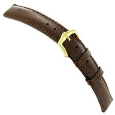 16mm Hirsch Windsor Brown Genuine Leather Heavily Padded Stitched Watch Band