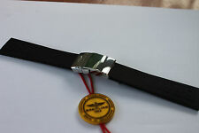 100% Genuine Breitling Black Diver Pro 3 Rubber deployment Strap and Clasp 20-18