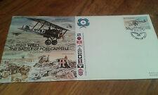 Gw44 grande guerre première guerre mondiale troisième d'Ypres Bataille de Poelcappelle piloté couverture timbre Bahamas