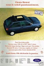 Publicité advertising 1992 Ford Fiesta Hawai
