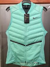 NIKE Mens Aeroloft 800 Lightweight Gilet Running Size Medium in Mint Green