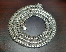 "32"" Sterling Silver Miami Cuban Link Chain, 8 mm 115 grams"