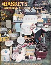 BASKETS - Stenciling, Stitching, Sewing & Stuff Pattern and Design Book