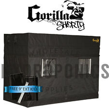 "Gorilla Grow Tent SHORTY 4' x 8' x 4' 11"" GGT w/ FREE 9"" Height Extension"