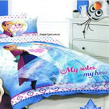 Disney Frozen - My Sister My Hero Double/US Full Bed Quilt Doona Duvet Cover Set