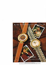 PUBLICITE  1989   BURBERRYS OF  LONDON   collection montre