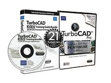 TurboCAD Pro 21 Platinum Edition & v21 Training CD  -2D & 3D CAD Design Software