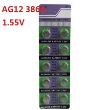 10X Batteries AG12 L1142 LR43 386A SR43 Coin Button Cell Battery Watch camera