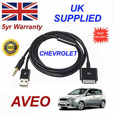 Chevrolet Aveo Ox0467904 3gs 4 4s iPhone iPod USB & Cable Audio Aux Negro