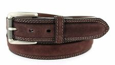 """SUEDE LEATHER BELT 1 3/8"""" 35MM WIDE MENS CASUAL GOLF JEAN DRESS 5 COLORS NWT"""