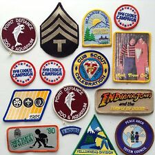 Vintage Merit Badge Movie TV Patches Girl Cub Scouts Mork Indiana Jones 15 Mixed