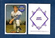 #17 SANDY KOURAX, L.A. Dodgers (@1986 SDP/Sports Design Products) Hall of Fame