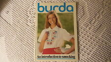 1980 BURDA An Introduction to Smocking Booklet Illustrated Patterns