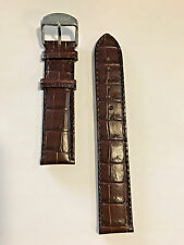 Original Tissot PR 100 Brown Leather 19mm Strap Band for T049417