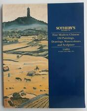 Auction Catalog Sotheby's Taipei 1994 Modern Chinese Painting Drawing Sculpture