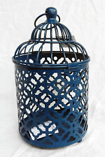 Moroccan Style Blue Metal Birdcage Candle or Plant Holder - BNWT