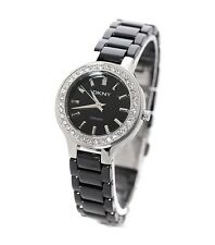 DKNY LADIES CRYSTALS CERAMIC COLLECTION SILVER WATCH NY4980