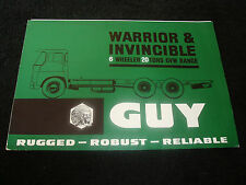 GUY WARRIOR & INVINCIBLE 6 WHEELER 20 TONS GVW RANGE UK SALES BROCHURE
