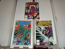 Avengers West Coast Marvel Comic Book Lot of 3 #59 - 61 From 1990 NM (9.0)