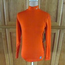 Nike Pro Combat Hyperwarm Orange Long Sleeves Compresson Exercise Top Sz S NWT *