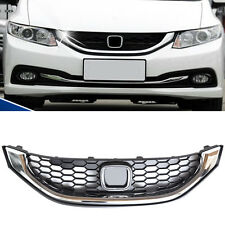 Silvery Chrome Front Grill Grille for Honda Civic US Edition 2013-2015