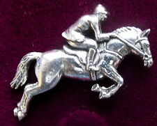 Pewter Horse Show Jumping  Brooch Pin Craftsman Quality