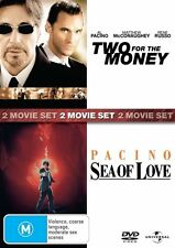 Two For The Money / Sea Of Love 2 movie set DVD R4 Sealed / Al Pacino