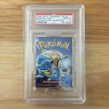 Pokemon PSA 10 1st Edition BLASTOISE Art English Base Set Booster Pack (SEALED)