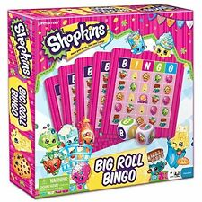 Shopkins Big Roll Bingo Kit Kids Board Game Preschool Toy Party Entertainment