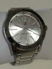 Tommy Hilfiger Watch TH.185-1-85-1293-1/4 Silver Tone Store Display With Tags