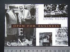 OPEN FOR BUSINESS IAN KENINS MELBOURNES LIVING HISTORY AVANT CARD #2614 POSTCARD