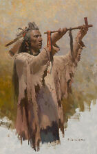 Z. S. Liang THE SACRED WAR PIPE Native American, Crow, Giclee Canvs #4/45