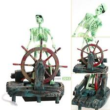 Fish Tank Aquarium Skeleton on Wheel Action-Air Aquariums Ornament Fashion Craft