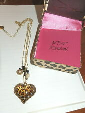 BETSEY JOHNSON NECKLACE LEOPARD NWT