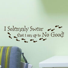 Wall Stickers I Solemnly Swear I Am Up To No Good With vinyl decal decor Nursery