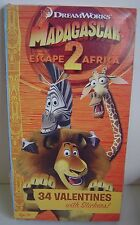 34 VALENTINES Age 3+ MADAGASCAR Escape 2 Africa STICKERS Valentine CARDS Collect