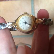 vintage da vinci womens wrist watch gold tone stretchy band works quartz