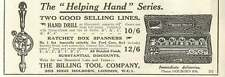 1926 The Billing Tool Company High Holborn Old Advert