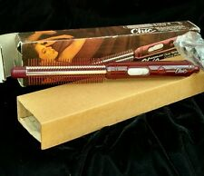 1980s Curling Iron Brush Norelco Chic Dual Temperature Removeable Bristles CCB18