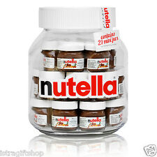 BIG GLASS NUTELLA XL JAR WITH 21X30g MINI GLASS JAR NUTELLA INSIDE MADE IN ITALY