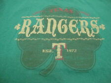 MLB Texas Rangers Major League Baseball Fan St Patrick's Day Clover T Shirt XL