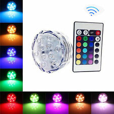 Waterproof LED Underwater Diving Candle Colorful Lights Battery Remote Control