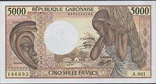 Gabon 5000 Francs ND. 1984 P 6a Uncirculated Banknote