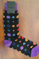 Duchamp London Men's Cotton Mix Socks Size Medium Star Dot Goya Black & Purple