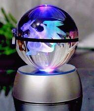 Pokemon Charizard Pokeball Crystal K9 3D Laser Engraved Led Base Xmas Toy Gift