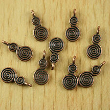 30pcs copper tone spiral snail charms findings H1912
