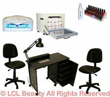Vented Manicure Nail Table Station Dryer Rack Chair Towel Warmer Salon Equipment