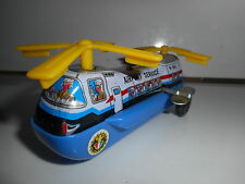 HELICOPTER  HELICOPTERE JOUET TOLE VINTAGE 70'S - AIRPORT SERVICE  MTU KOREA