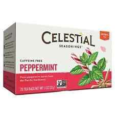 Celestial Seasonings Caffeine Free Peppermint Natural Herbal Tea 20 ea